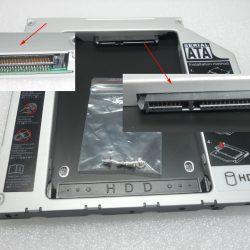 Adaptador HD PATA SATA 15 17 aluminio 06 08