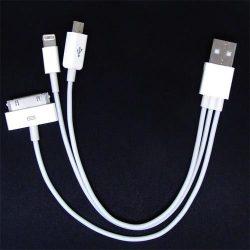 Cable 3 en 1 USB MicroUSB Lightning